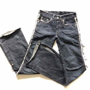 Diesel Industries Frayed Jeans Slit Ankles